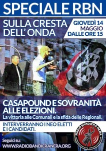 Radio Bandiera Nera – SPECIALE Elezioni comunali e regionali 2015