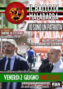 Podcast – IL BALLO DI MALABARBA, Io sono 1 patriota, intervista a Simone di Stefano e Mauro Antonini
